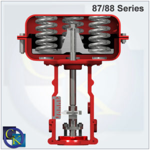 Type 87/88 Pneumatic Multi-Spring Actuators